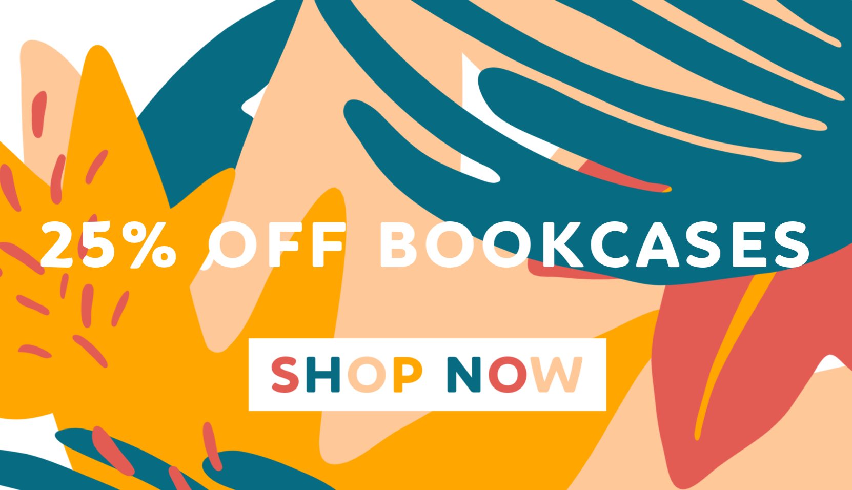 25% off bookcase