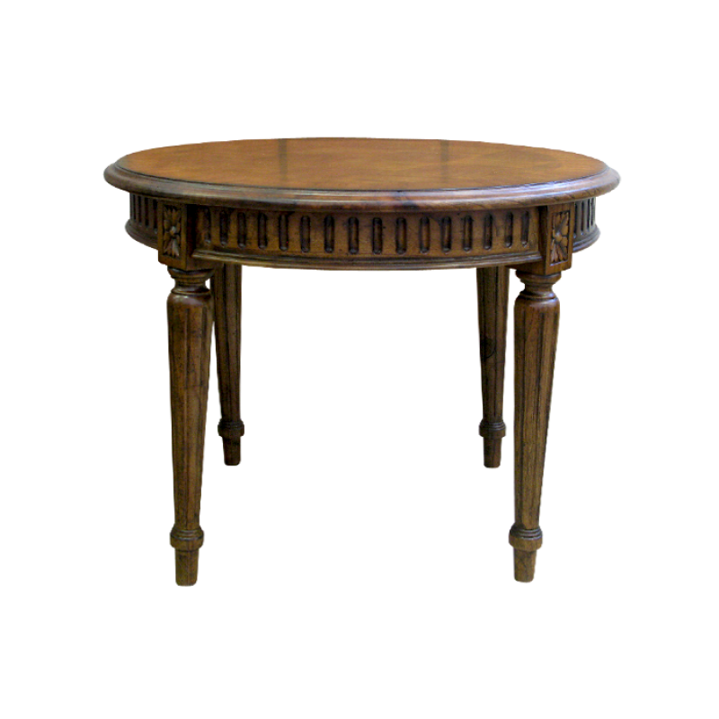 European Design Small Round French Occasional Table With