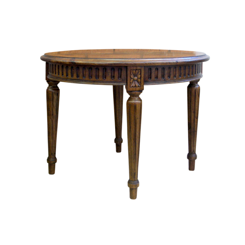 European design small round french occasional table with for Small occasional tables