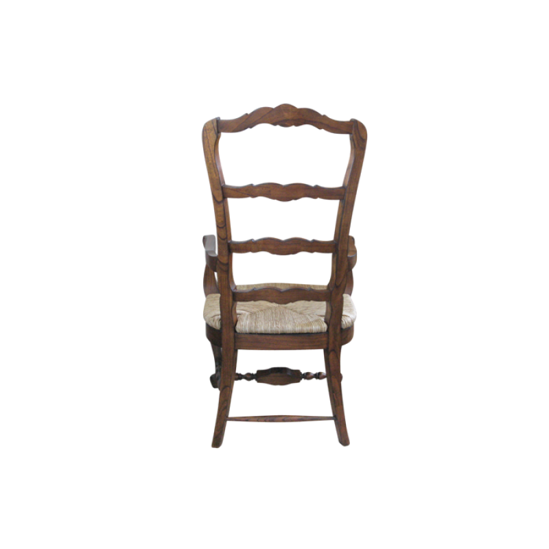 European Design French Country Ladderback Carver Chair