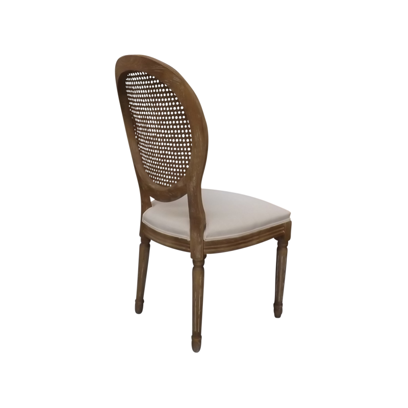 ... Louis XVI Balloon Back Dining Chair In Weathered Oak