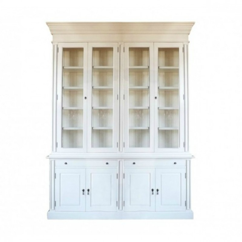 European Design French Provincial Two Bay Bookcase With