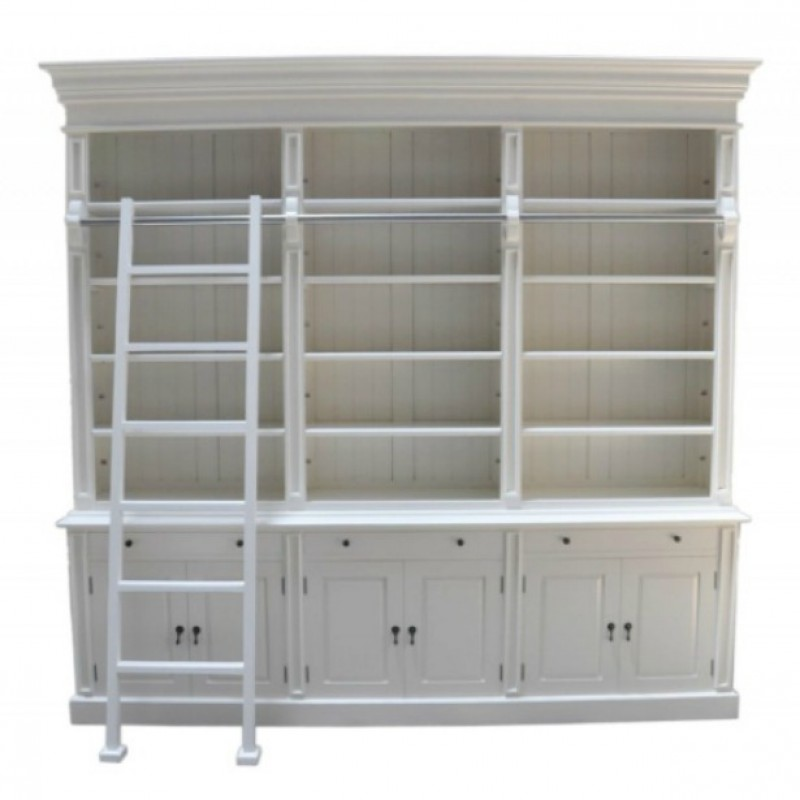 European Design French Provincial Three Bay Bookcase