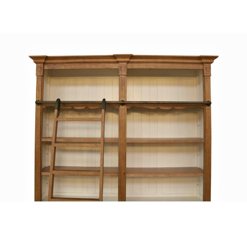 European Design Provincial Louis Style Two Bay Bookcase In