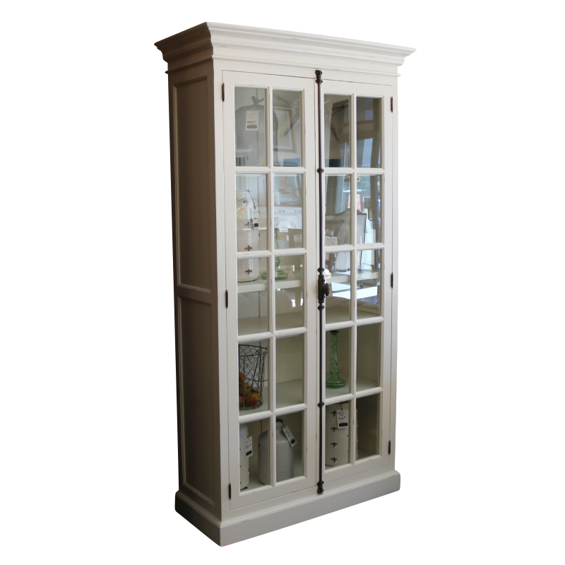 European Design French Country Display Cabinet In Antique