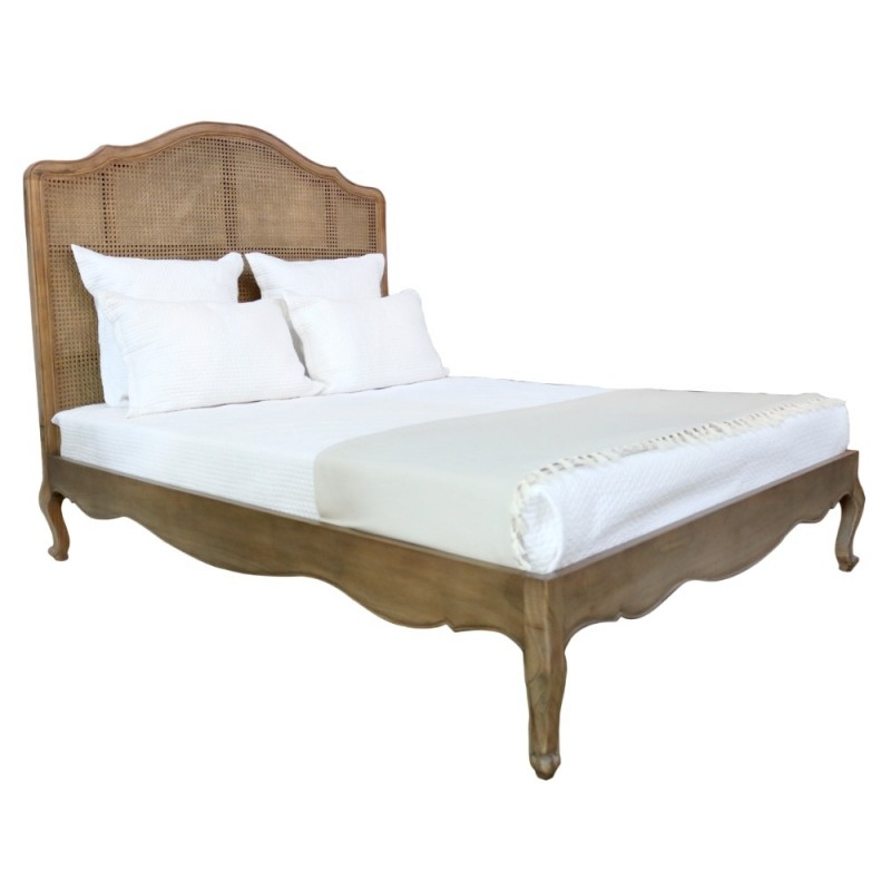 European Design Provence Rattan Bed In King Size