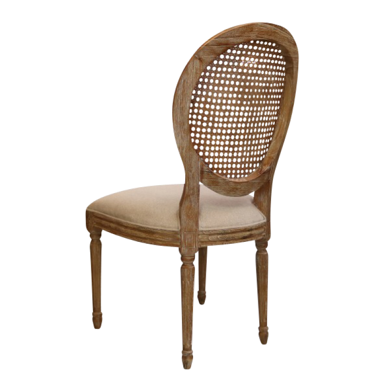French Provincial Chair >> European Design French Louis Rattan Balloon Back Dining ...
