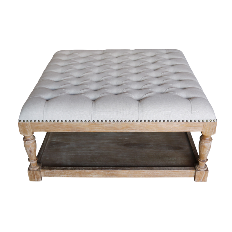 European Design Chesterfield Style Upholstered Coffee Table