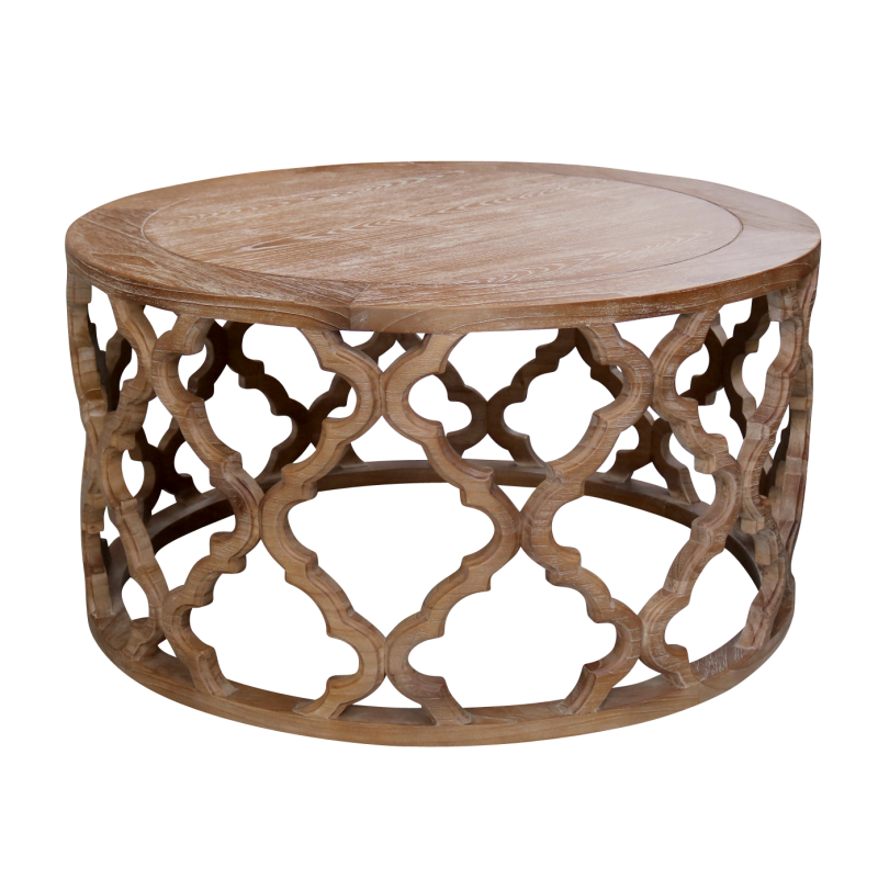 European design hamptons inspired round coffee table for Design table replica