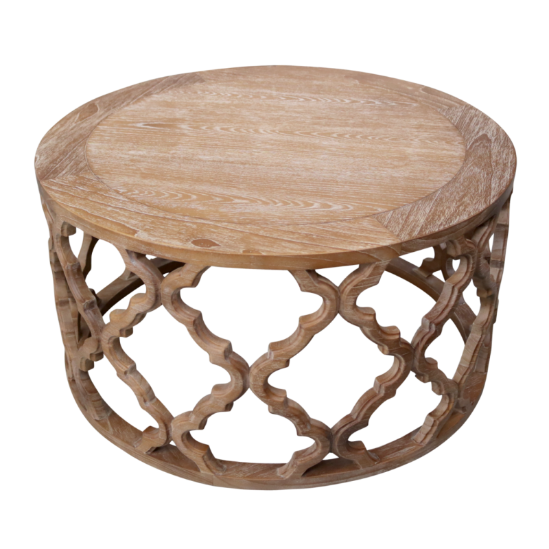 European Design Hamptons Inspired Round Coffee Table