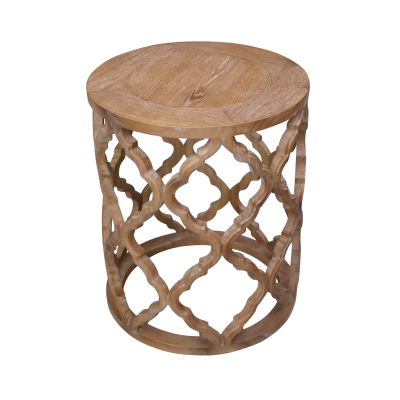 European design hamptons inspired round side table for Design table replica