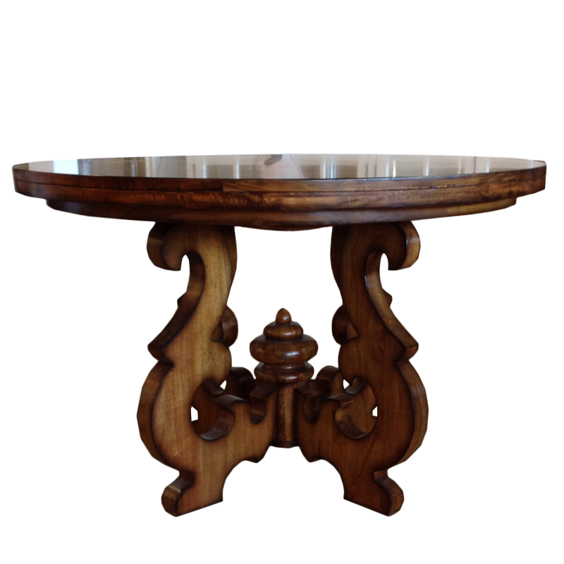 French Country Round Dining Table: European Design French Country Style Round Dining Table
