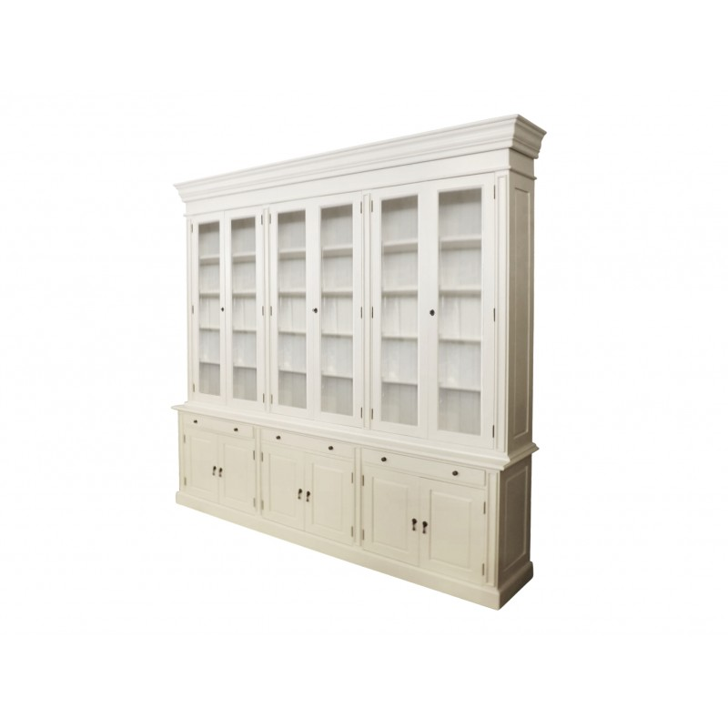 European Design French Provincial Three Bay Bookcase With