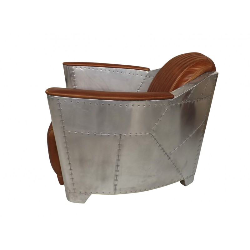 European Design Industrial Aviator Style Armchair In