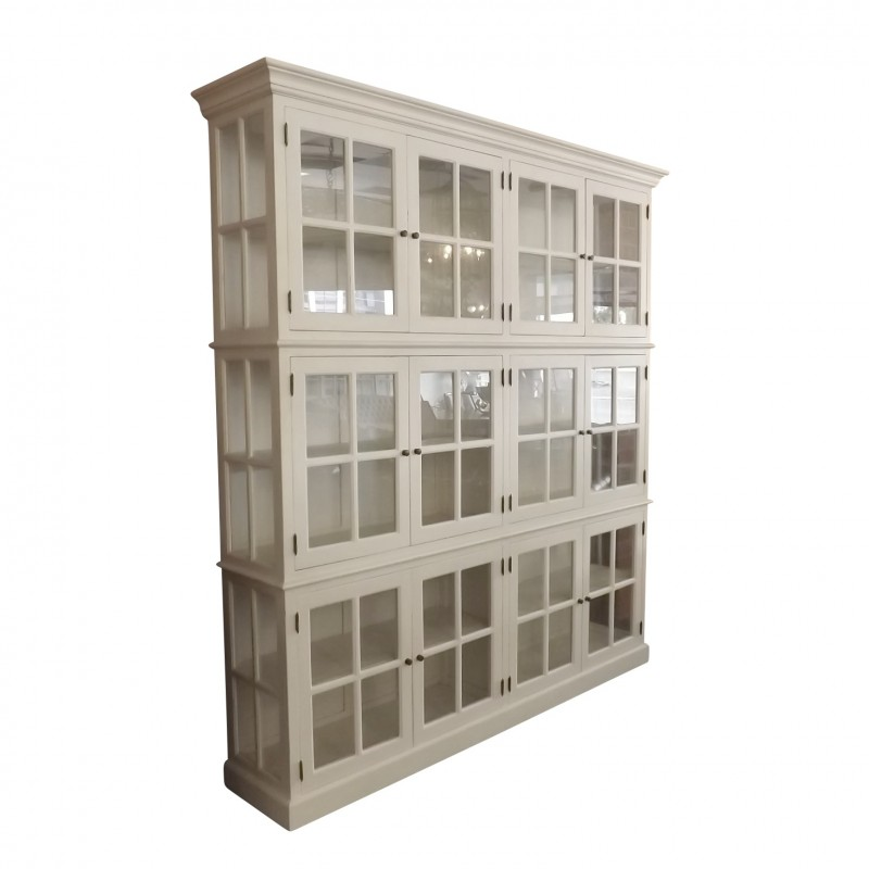 european design hamptons style 12 door glass cabinet. Black Bedroom Furniture Sets. Home Design Ideas