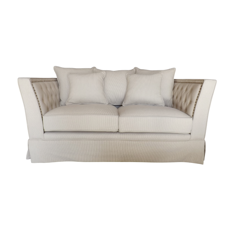 Awesome European Design Contemporary Chesterfield Two Seat Sofa In Linen Camellatalisay Diy Chair Ideas Camellatalisaycom