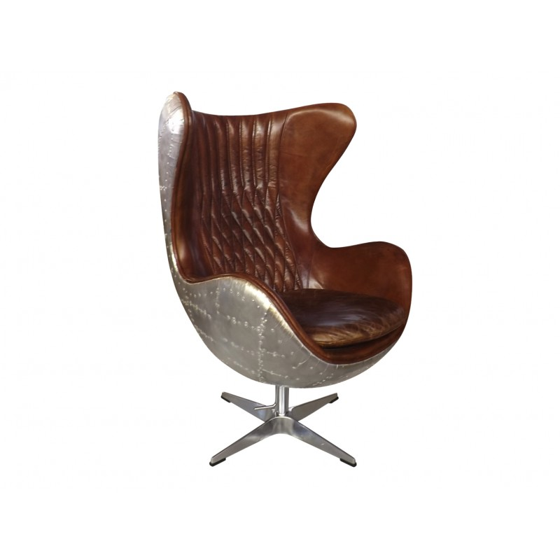 metal backed previous rivet chair aviator and collections uk brown leather with swivel