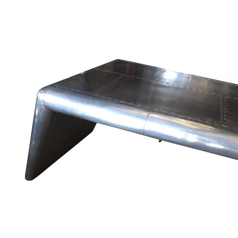 ... Aviator Desk In Aluminum ...