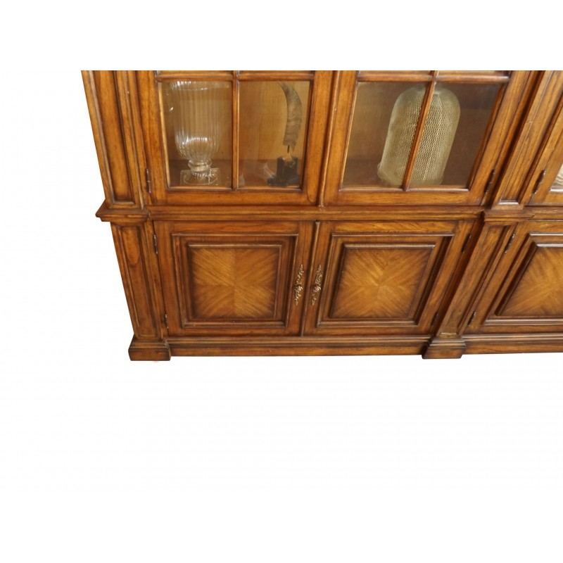 European Design American Arch Bookcase With Glass Doors