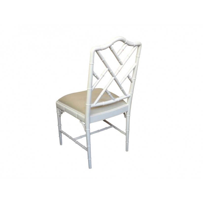 Fantastic European Design Chinoise Chippendale Dining Chair In White Gloss Gmtry Best Dining Table And Chair Ideas Images Gmtryco