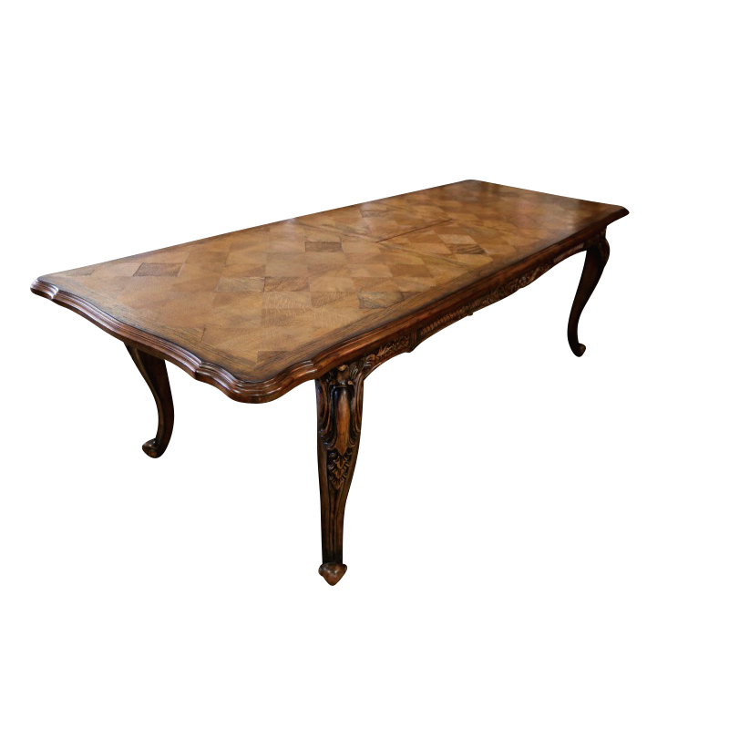 European Design Louis Xv Parquetry Extension Dining Table