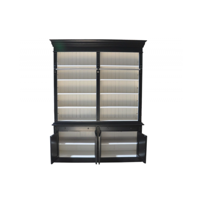 Black And White Bookcase : European design french provincial two bay bookcase with