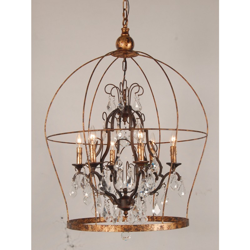 European Design Designer French Birdcage Chandelier In