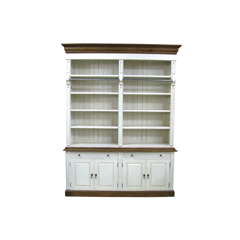 French Provincial Two Bay Bookcase with Ladder in White  : img0010 from europeandesign.com.au size 800 x 800 png 419kB