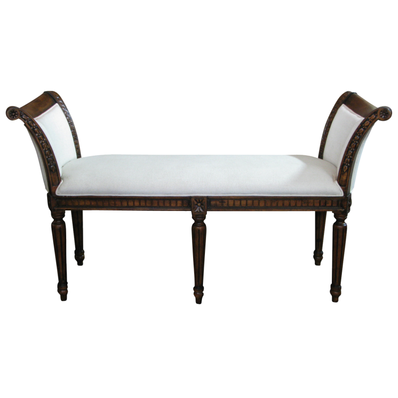 European Design French Provincial Louis XV Window Bench