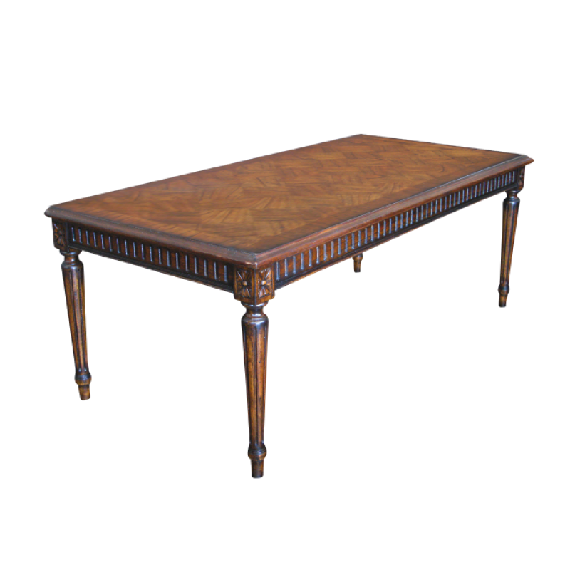 French Coffee Table Dimensions: European Design Rectangular French Occasional Table With