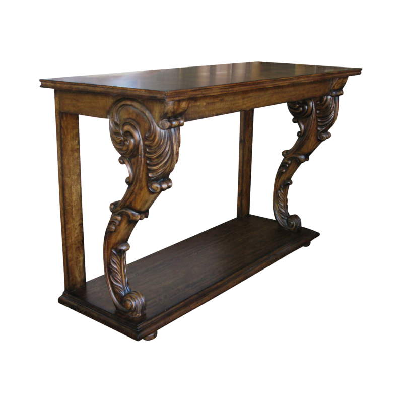 European Design Console Table With Parquetry Top And
