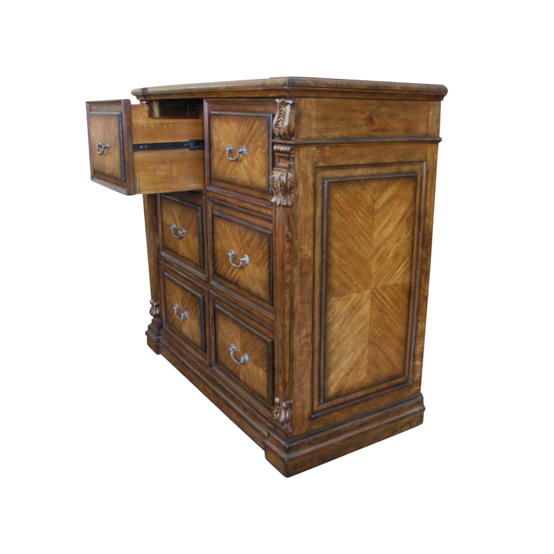 European Design French Six Drawers Filing Cabinet