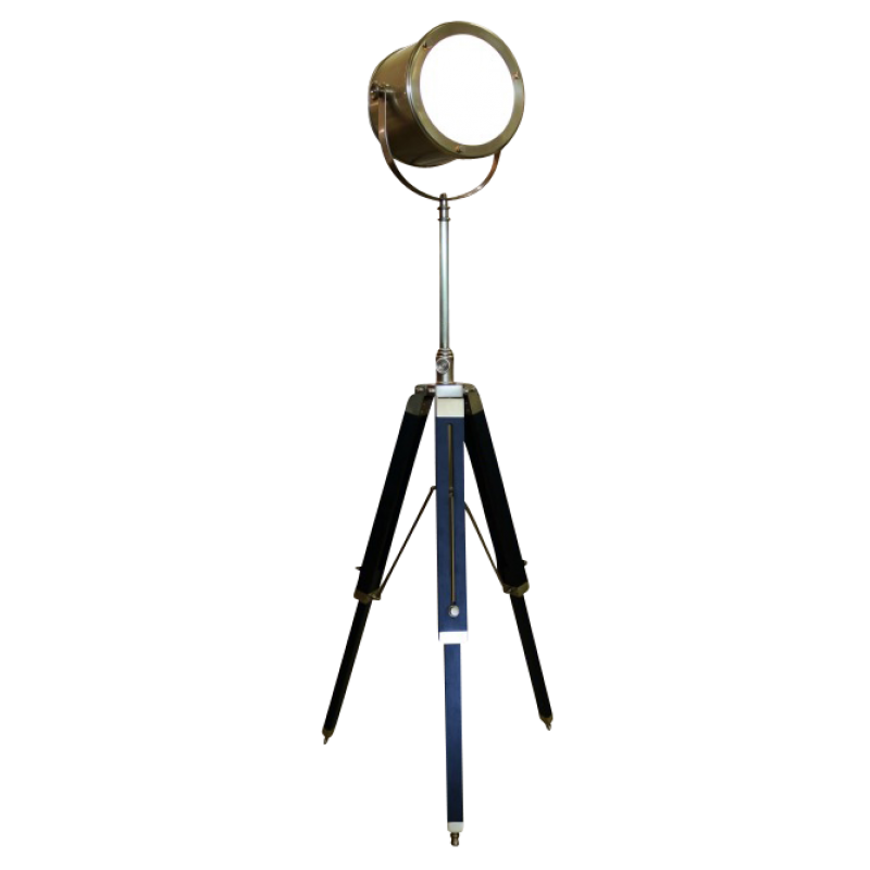 European Design Navigators Tripod Lamp In Antiqued Bronze