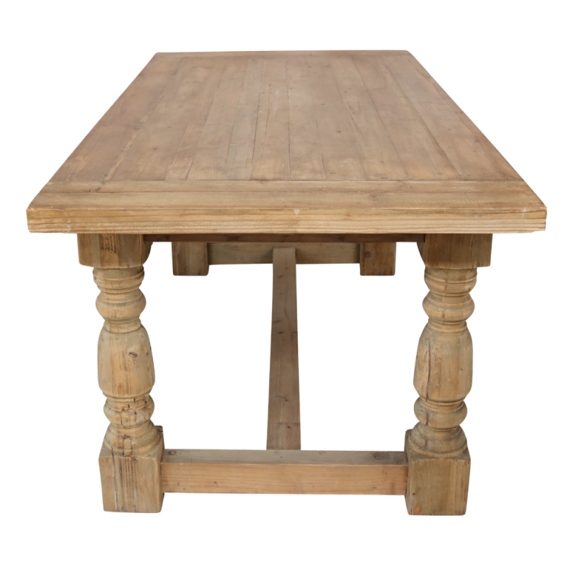 European Design Farmhouse Dining Table In Reclaimed Pine 1 8m