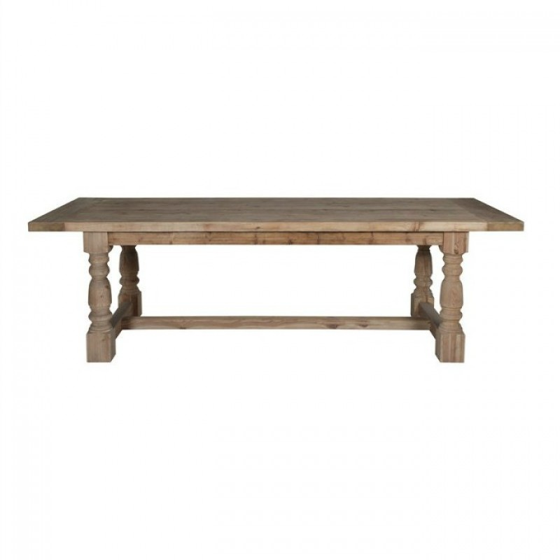 European Design Farmhouse Dining Table in Reclaimed Pine 2 4m