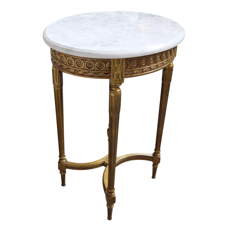 Marble Coffee Table Ornate: European Design Ornate Oval Side Table In Gold Gild With