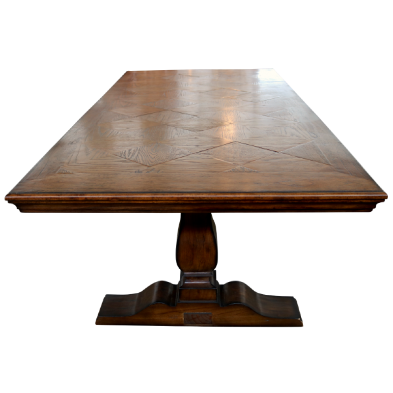 European Design French Pedestal Base Dining Table In