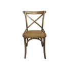 Cross Back Chair in Elm Timber