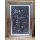 Vintage Style Aviation Blueprint