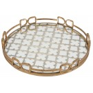 French Round Mirrored Tray