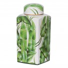Tropical Square Jar in Palm Print