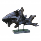 Fish in Dark Finish on Black marble base