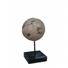 Cheese Stone Ball on Black Marble Base – Medium