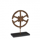 Iron Cast Wheel 40 on Black Marble Base
