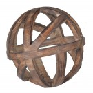 Large Woven Timber Decorative Orb
