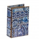 Blue and White Book Box