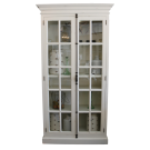 French Country Display Cabinet in Antique White