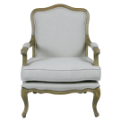 French Provincial Louis Armchair