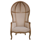 Louis XV Porters Chair in Antique Grey Oak