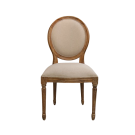 French Louis Balloon Back Dining Chair in Light Oak